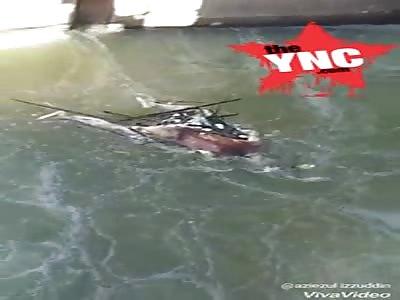 The body of a rotten man was found floating in a river near Sentul LRT Station, Bandar Baru Sentul