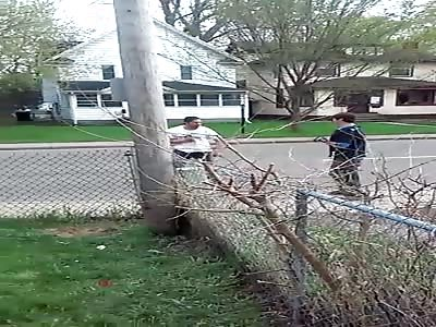 Whitey slams spade into street