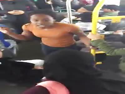 Baboon bitch brawls with burka boogies on bus
