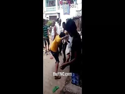 A Thief Beaten by Public