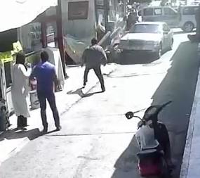 Accident caught on CCTV