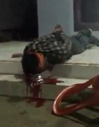 Handcuffed thief with Shot in the Head Still Agonizing on the Sidewalk
