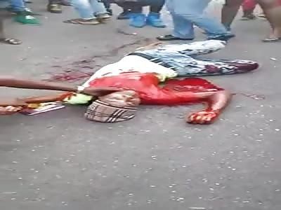 Man dies in agony shot on the street