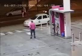 Man Brutally Knocked Outside Gas Station