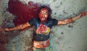 Bloody Murder Scene: Man Savagely Hacked to Death