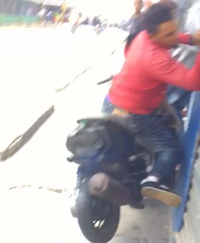 Damn... Idiot Biker