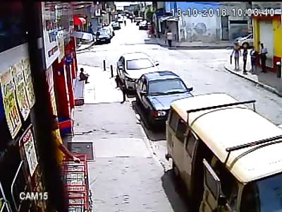 Accident Video caught on CCTV Camera | Brazil