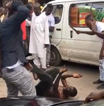 Nigeria Car Thief Gets Beaten