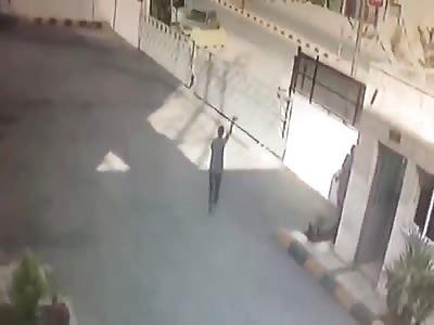 Arabian Road accident caught on CCTV