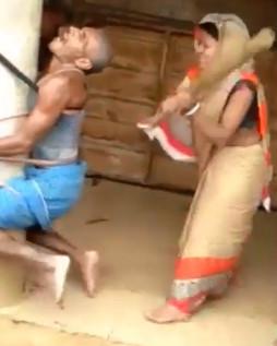 Pervert being Beaten by Villagers