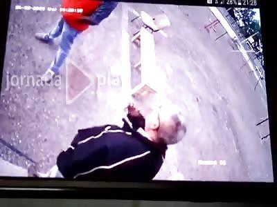 Murder Caught on CCTV Camera