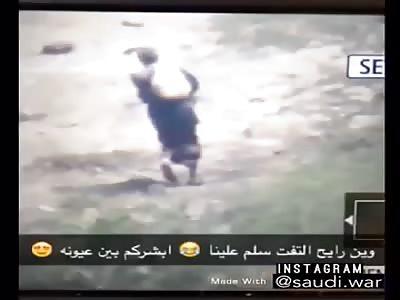 Saudi army killing houthis