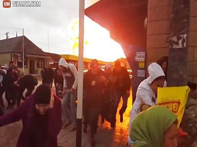 Massive Explosion Obliterates Gas Station
