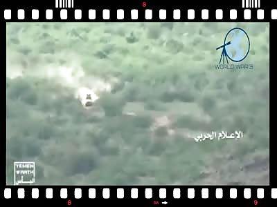 Yemen Jizan15/11/18 en Alsbakah los houties destruyen vehiculo con mer