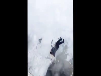 Frozen Lake Belly Flop