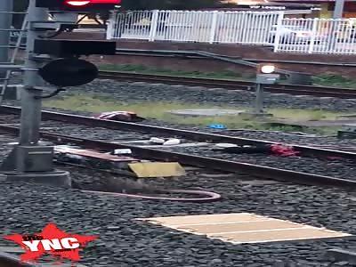 Man was cut in half by a train
