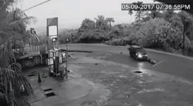 Car Runs Straight Over Motorcyclist Killing Him