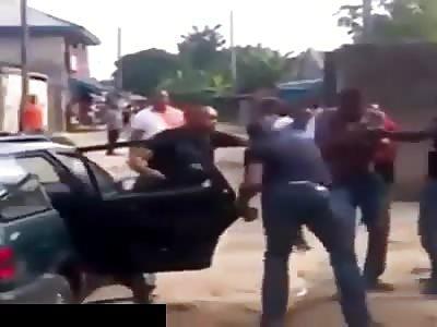 Man Brutally Beaten with Batons