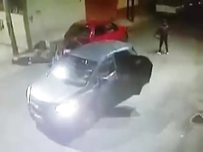 CCTV of Brutal Quadruple Drive-By Murder