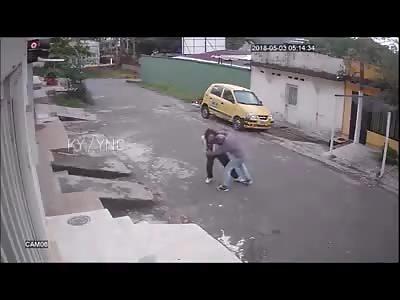 Victim Brutally Beaten by Thief on Motorbike