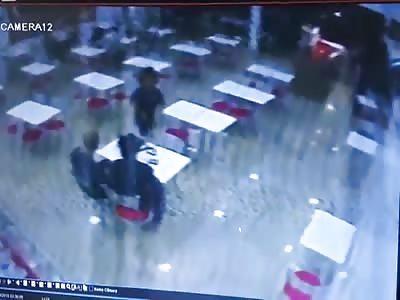 CCTV Murder of Man at Restaurant in Brazil (shit)