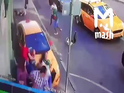 DAMN! Drunk Russian Driver Knocks Down Mexican Football Fans