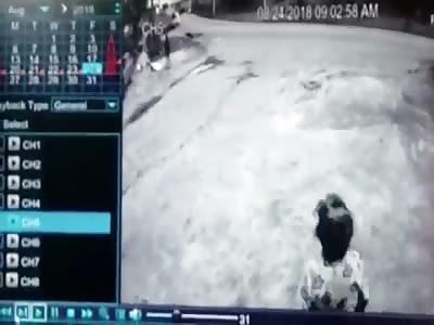 Man Killed When Generator Falls off a Truck
