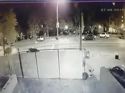 Pedestrians Sent Flying in Shocking Accident