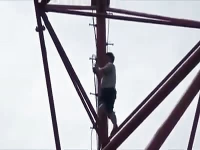 Meth User Hangs Himself From Electricity Pylon