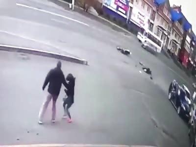 Biker Dies Instantly When He hits Car