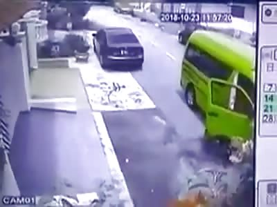 Schoolkid Crushed by Minivan