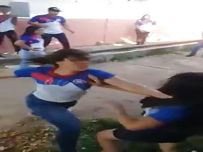 Girl Gets KO'd