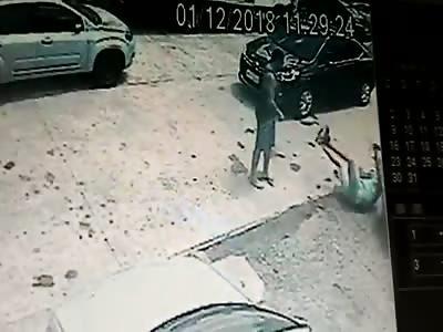 Old Man Brutally Beaten in Recife