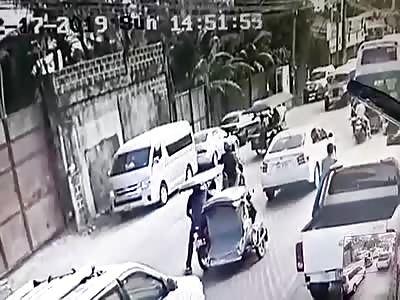 Trike Passenger Killed by Assassin on Motorbike