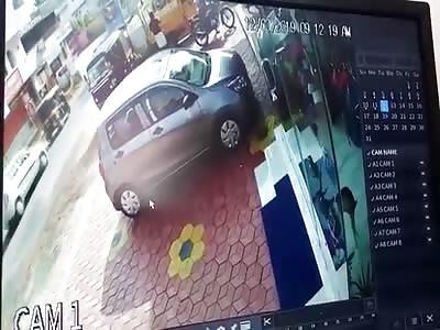 WTF! Crazy Bastard Burns Alive in the Street