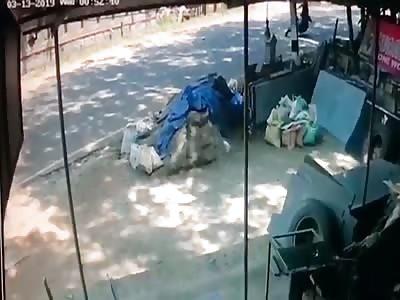 Student BIker Slides to His Death
