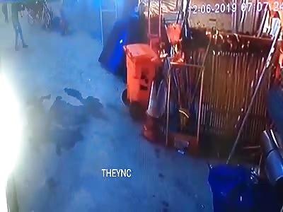 Machine Gun Execution of an EX Cop
