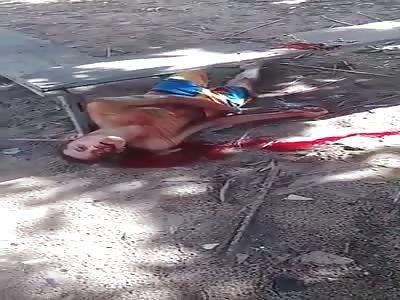 man agonizing! last sighs of life! shocking video!