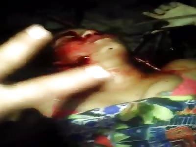 murdered woman