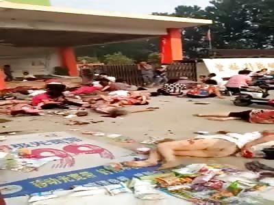 Jiangsu Fengxian a kindergarten door explosion has caused 7 people were killed and 66 injured.