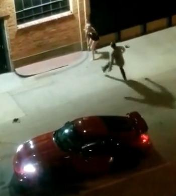 Man attacks woman outside nightclub