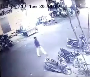 Motorbike accident .