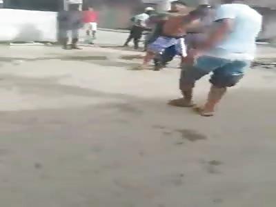 Resistance to arrest, shot, population against police...Brazil