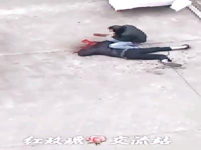 Asian Man kills his Wife Using a Butcher Knife