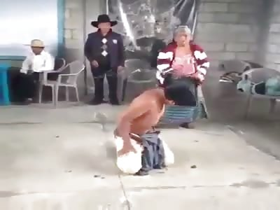 Grandmother punishes her grandson