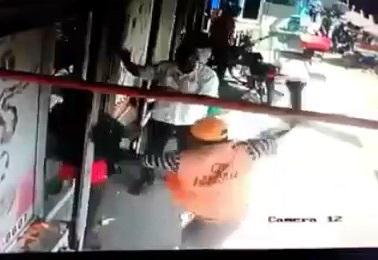 Crazy Violent Machete Attack