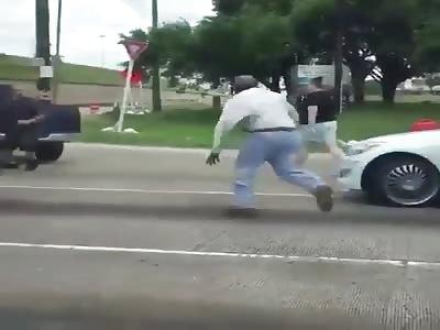 Nigger vs white road rage