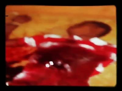 Nigger shot dead bloody