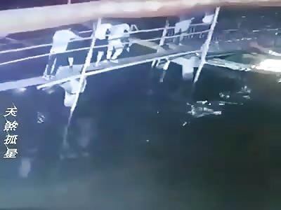 (Repost)  Stupid asshole falls into water