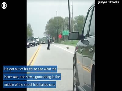 Asshole cop kills groundhog
